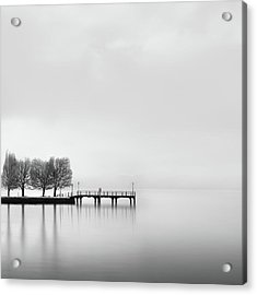 Pier With Trees (2) Acrylic Print by George Digalakis