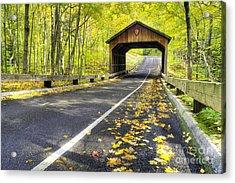 Pierce Stocking Scenic Drive In Fall Acrylic Print