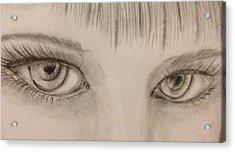 Piercing Eyes Acrylic Print