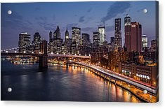 Acrylic Print featuring the photograph Piercing Manhattan by Mihai Andritoiu