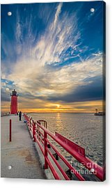 Pierhead October Sky Acrylic Print