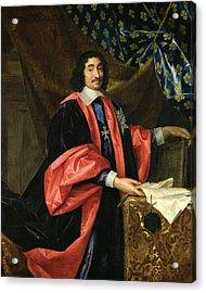 Pierre Seguier 1588-1672 Chancellor Of France, C.1668 Oil On Canvas Acrylic Print