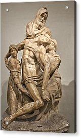 Pieta By Michelangelo Acrylic Print