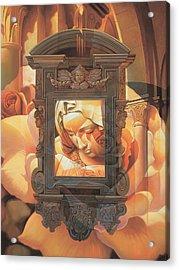 Acrylic Print featuring the painting Pieta by Mia Tavonatti