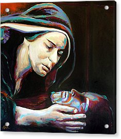 Pieta Acrylic Print by Steve Gamba