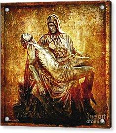 Pieta Via Dolorosa 13 Acrylic Print