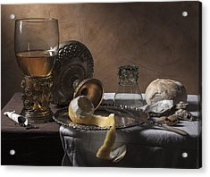 Acrylic Print featuring the photograph Pieter Claesz- Breakfast Piece by Levin Rodriguez