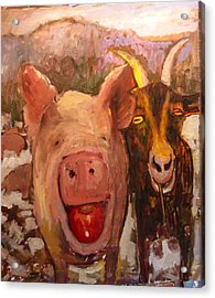 Pig And Goat Acrylic Print