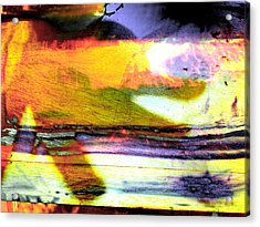 Pig Chasing Fish Acrylic Print by Robert M Cooper