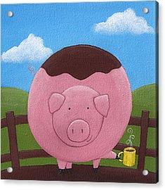 Pig Nursery Art Acrylic Print by Christy Beckwith