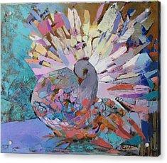 Pigeon Acrylic Print by GALA Koleva