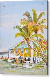 Pigeon Key - Home Acrylic Print by Terry Arroyo Mulrooney