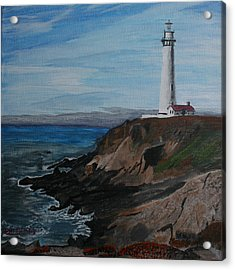 Acrylic Print featuring the painting Pigeon Lighthouse Daytime Titrad by Ian Donley