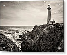 Pigeon Point Light Acrylic Print by Heather Applegate
