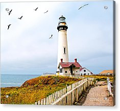 Acrylic Print featuring the photograph Pigeon Point Lighthouse by Artist and Photographer Laura Wrede