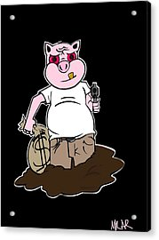 Piggy Bank Acrylic Print by Andre Carrion