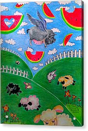 Pigs Can't Fly Acrylic Print