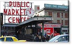 Pike Place Market Center Acrylic Print