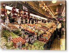 Pike Place Veggies Acrylic Print by Spencer McDonald