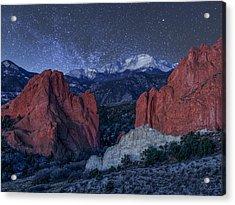 Pikes Peak At Night Acrylic Print