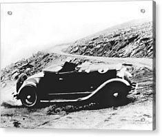 Pikes Peak Auto Race Acrylic Print by Underwood Archives