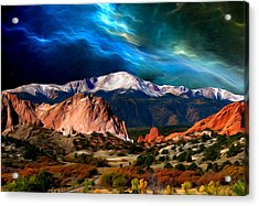 Pikes Peak Feelin' It... Acrylic Print