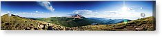 Pikes Peak Panoramic From Almagre Acrylic Print