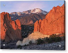 Acrylic Print featuring the photograph Pikes Peak Sunrise by Aaron Spong