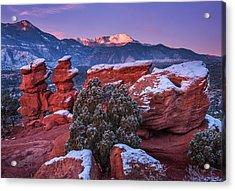 Pikes Peak Sunrise Acrylic Print by Darren  White