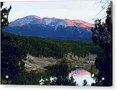 Pikes Peak Sunset Acrylic Print by Marilyn Burton