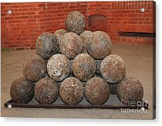 Pile Of Cannon At San Francisco Fort Point 5d21493 Acrylic Print by Wingsdomain Art and Photography