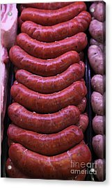 Pile Of Sausages - 5d20694 Acrylic Print by Wingsdomain Art and Photography