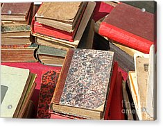 Piles Of Old Books Acrylic Print by Kiril Stanchev