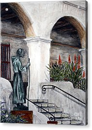 Pilgrim From The Past Acrylic Print by Danuta Bennett