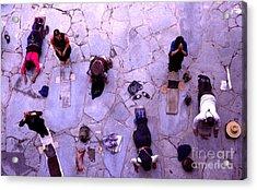 Pilgrims At Jokhang Monastery -  Tibet Acrylic Print