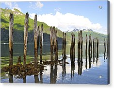Acrylic Print featuring the photograph Pilings by Cathy Mahnke