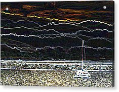 Pillar Point Harbor Below Half Moon Bay Hills Acrylic Print