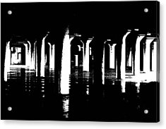 Pillars And Hardwoods Acrylic Print