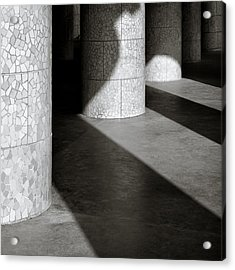 Pillars And Shadow Acrylic Print by Dave Bowman