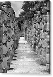 Acrylic Print featuring the digital art Pillars In A Row by Kirt Tisdale