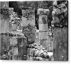 Acrylic Print featuring the photograph Pillars In Disarray by Kirt Tisdale