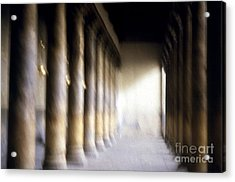 Pillars In Israel Acrylic Print by Scott Shaw
