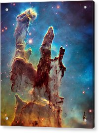 Pillars Of Creation In High Definition Cropped Acrylic Print by Jennifer Rondinelli Reilly - Fine Art Photography
