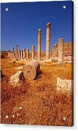 Pillars Of Ruin Acrylic Print by FireFlux Studios