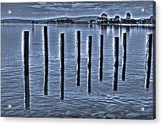 pillars on the Bay Acrylic Print