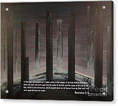 Pillars Acrylic Print by Wayne Cantrell
