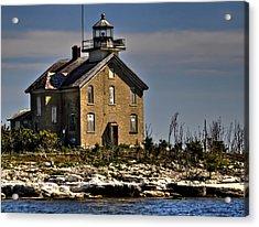 Acrylic Print featuring the photograph Pilot Island Lighthouse by Deborah Klubertanz