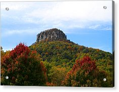 Pilot Mountain From 52 Acrylic Print by Kathryn Meyer