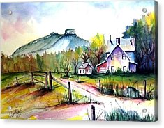 Pilot Mountain Nc Farm Road Sold Acrylic Print