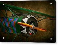 Pilot - Plane - German Ww1 Fighter - Fokker D Viii Acrylic Print by Mike Savad